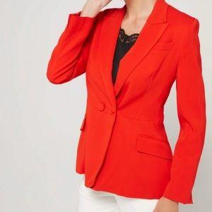 IPEKYOL Red Pocket Detail Career Blazer